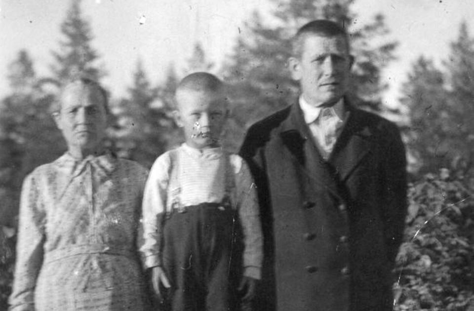 Hilda, Matti ja Aleksi Perälä
